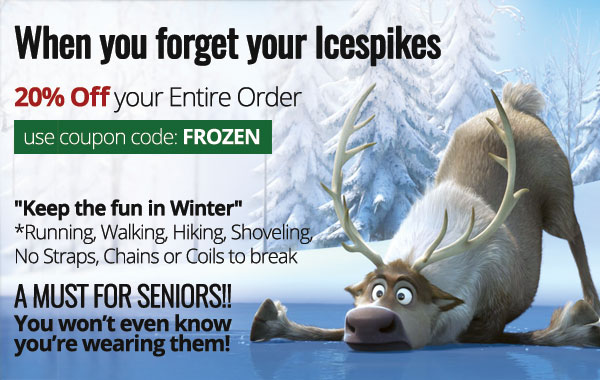 Don't Forget Your Icespikes - Save 20%
